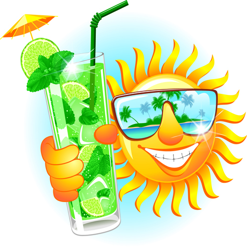 Summer Smiley-Face Sun