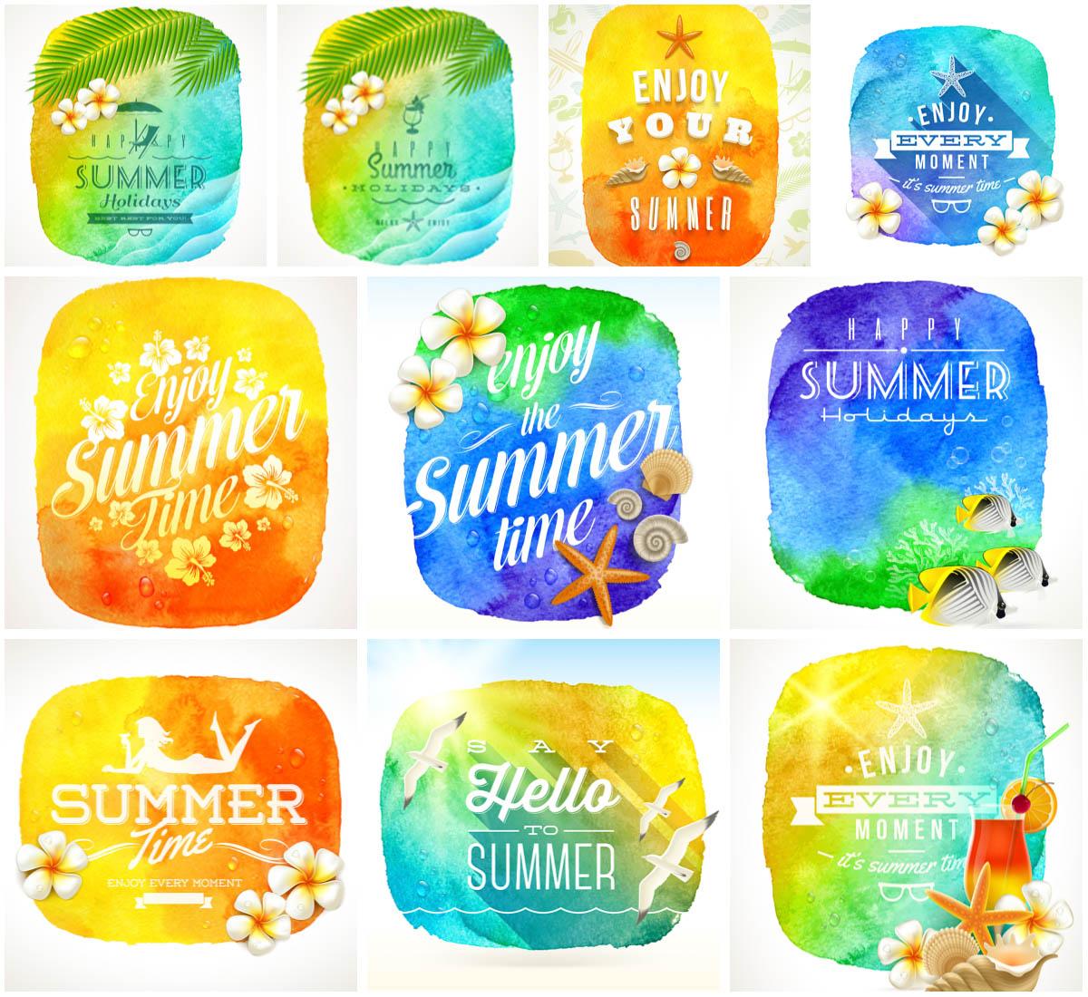 Summer Watercolor Vector