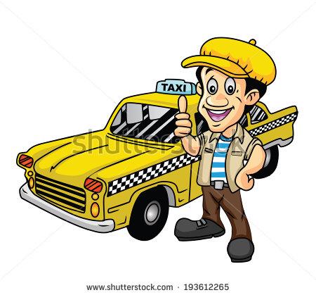 Taxi Cab Driver Clip Art