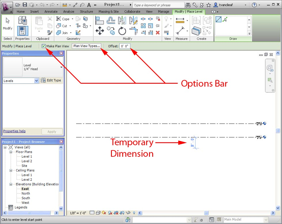 Temporary Dimensions Revit