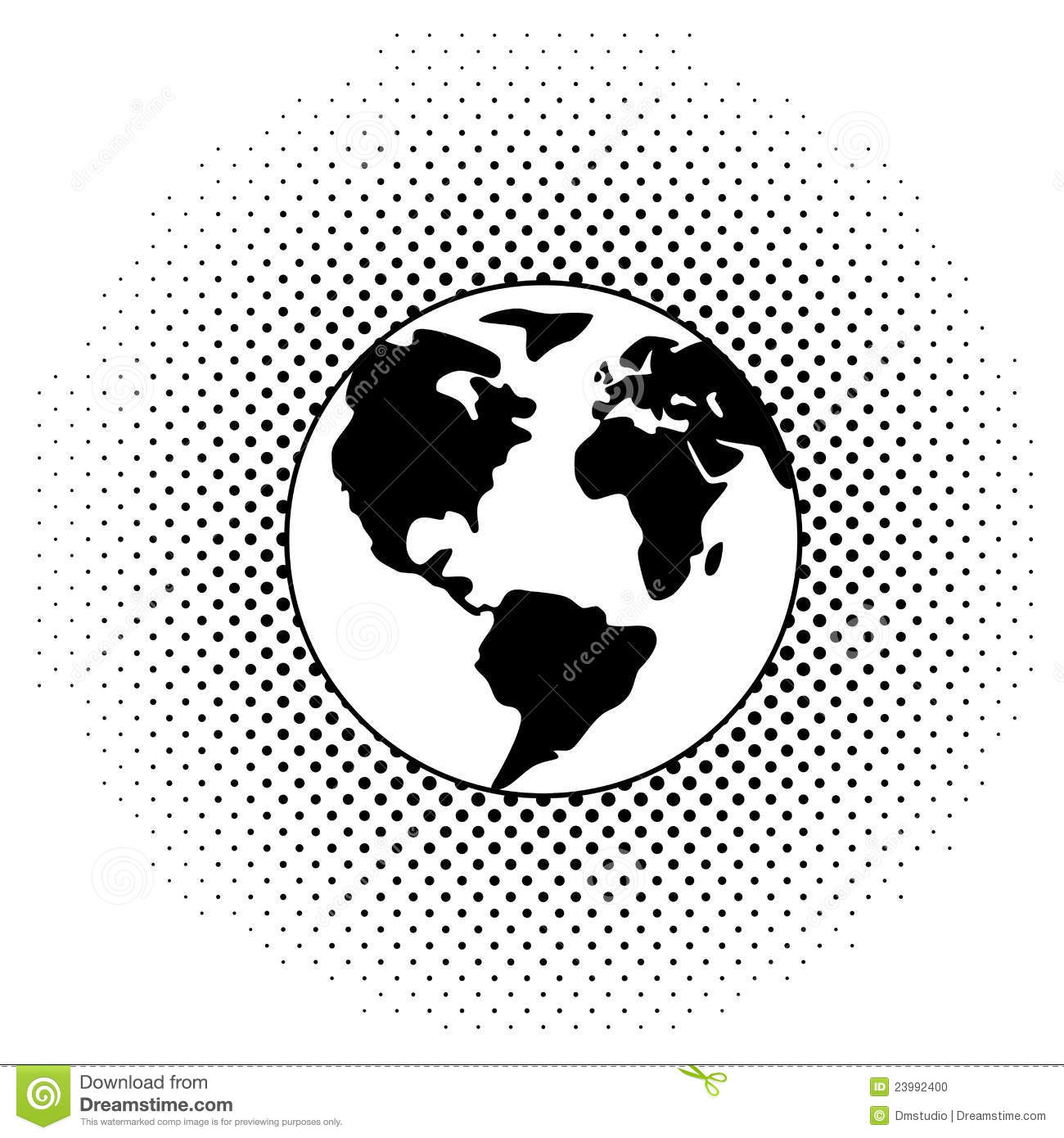 Vector Earth Black and White