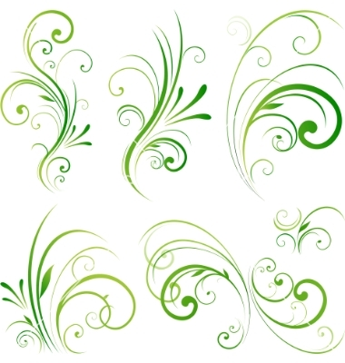 Vector Floral Swirl Clip Art