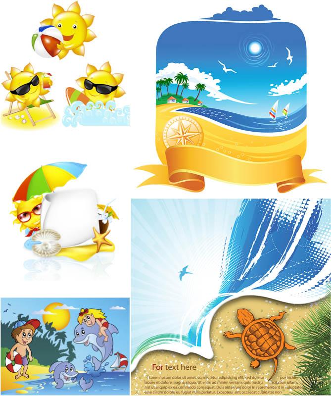 Vector Summer Beach Clip Art