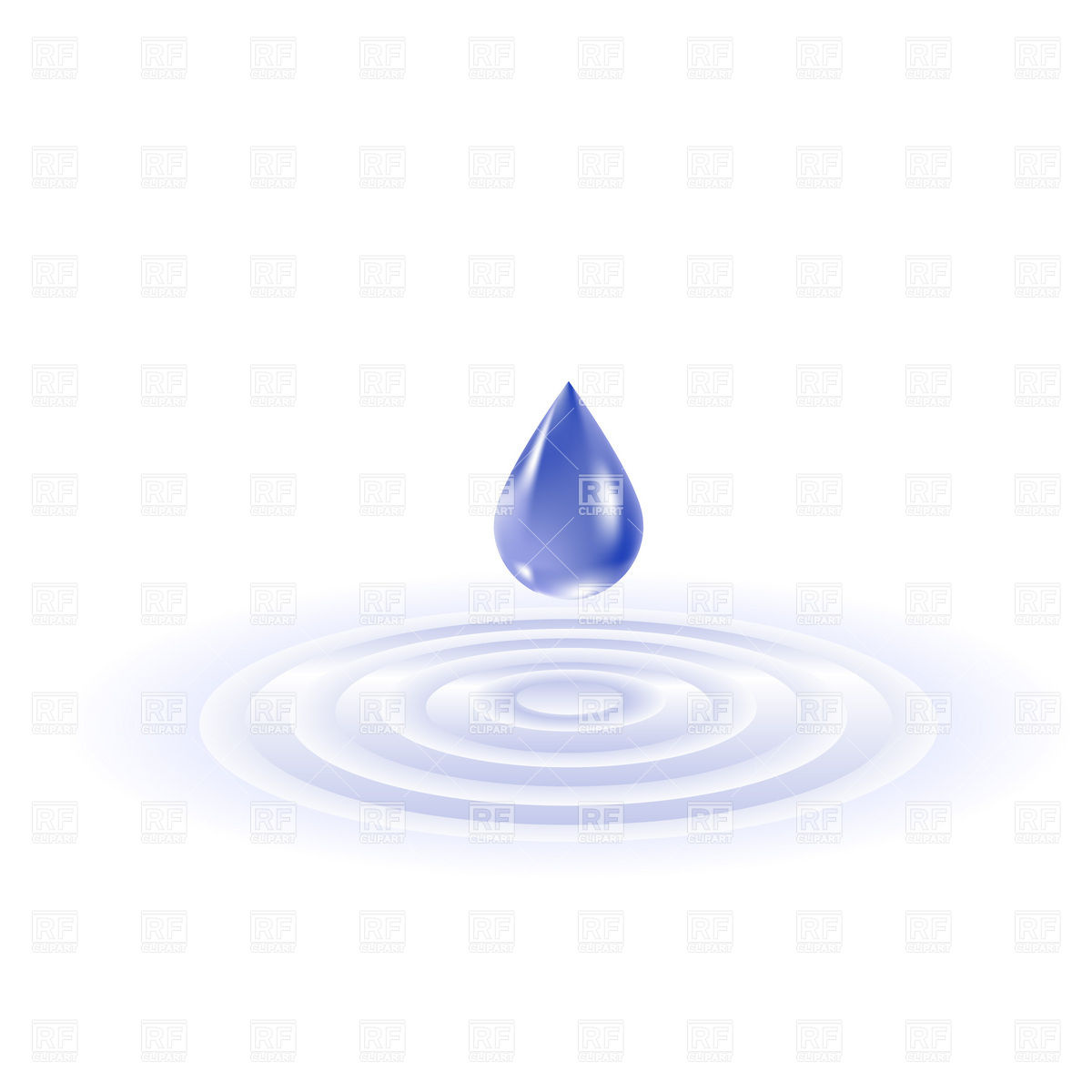 Vector Water Ripple Clip Art