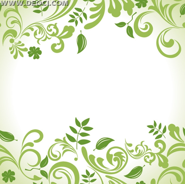 17 Green Leaf Vine Vector Images
