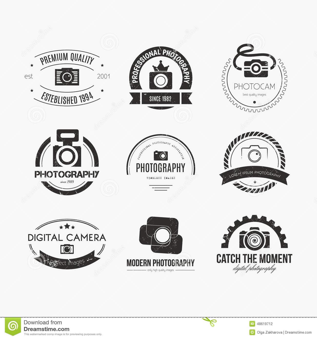 Vintage Modern Photography Logos