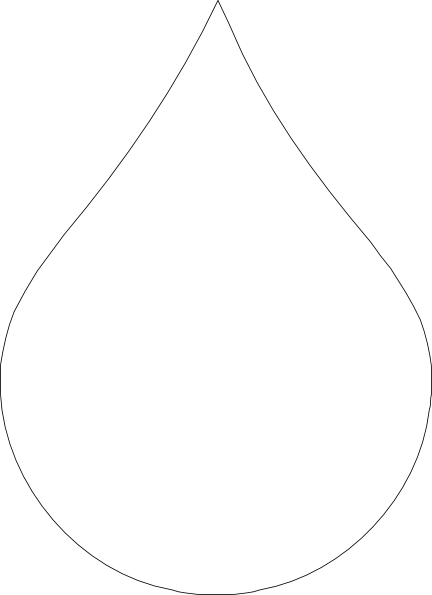 Water Drop Clip Art Black White