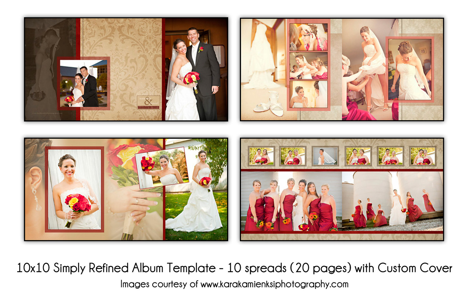 wedding photo album templates in photoshop - 15 free wedding album layout templates images wedding