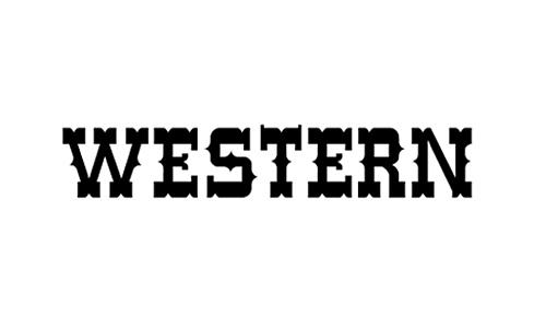 Word Western Font