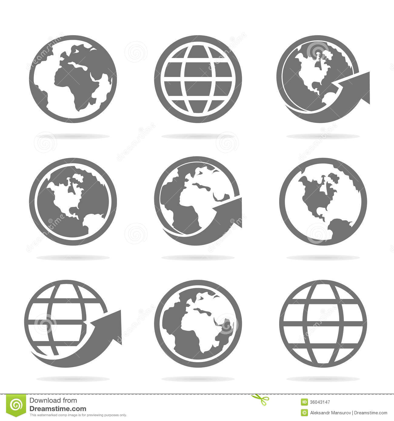 World Icon Vector