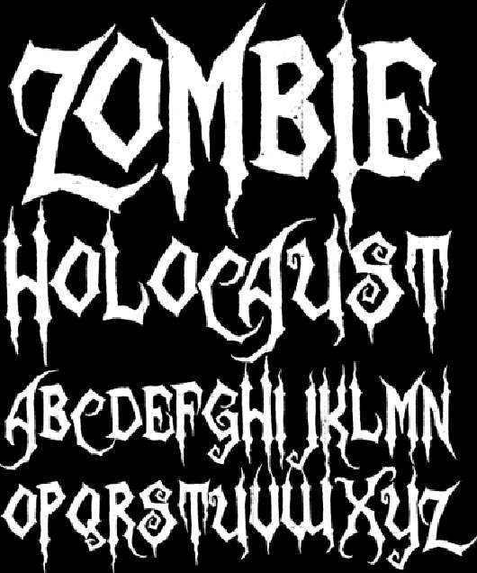 13 Zombie Font Styles Images
