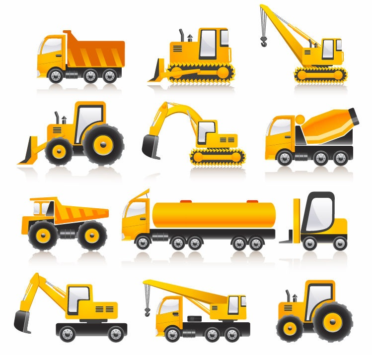 12 Vector Construction Truck Images
