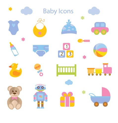 Cute Cartoon Baby Icon