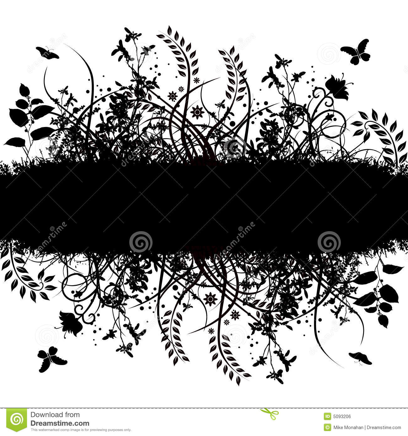 Floral Grunge Vector Banners