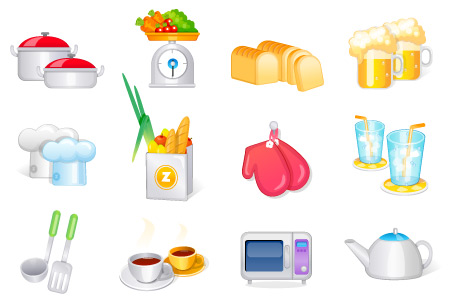 Free Vector Cooking Icons