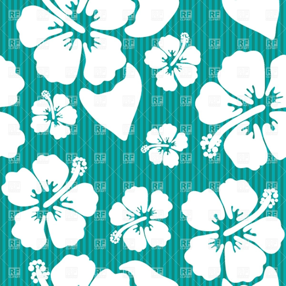 6 Hawaiian Vector Flower Patterns Images