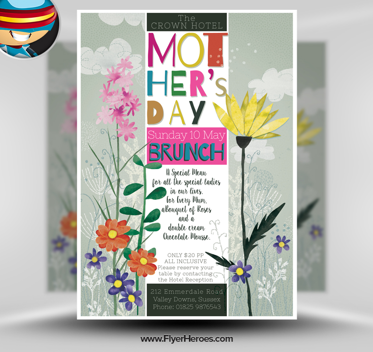 Mother's Day Flyer Template Free