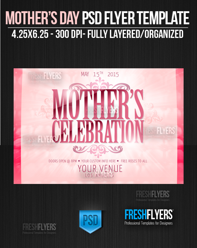 mothers day party flyer template tecstar