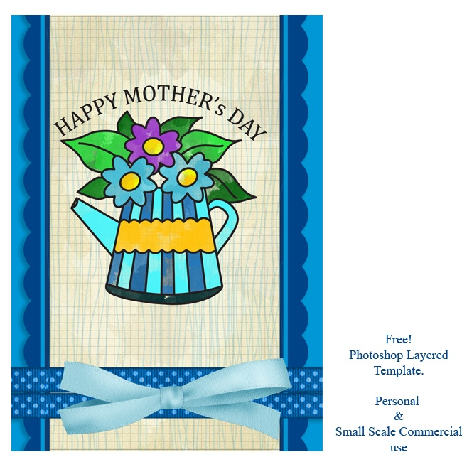 Mother's Day Photoshop Template