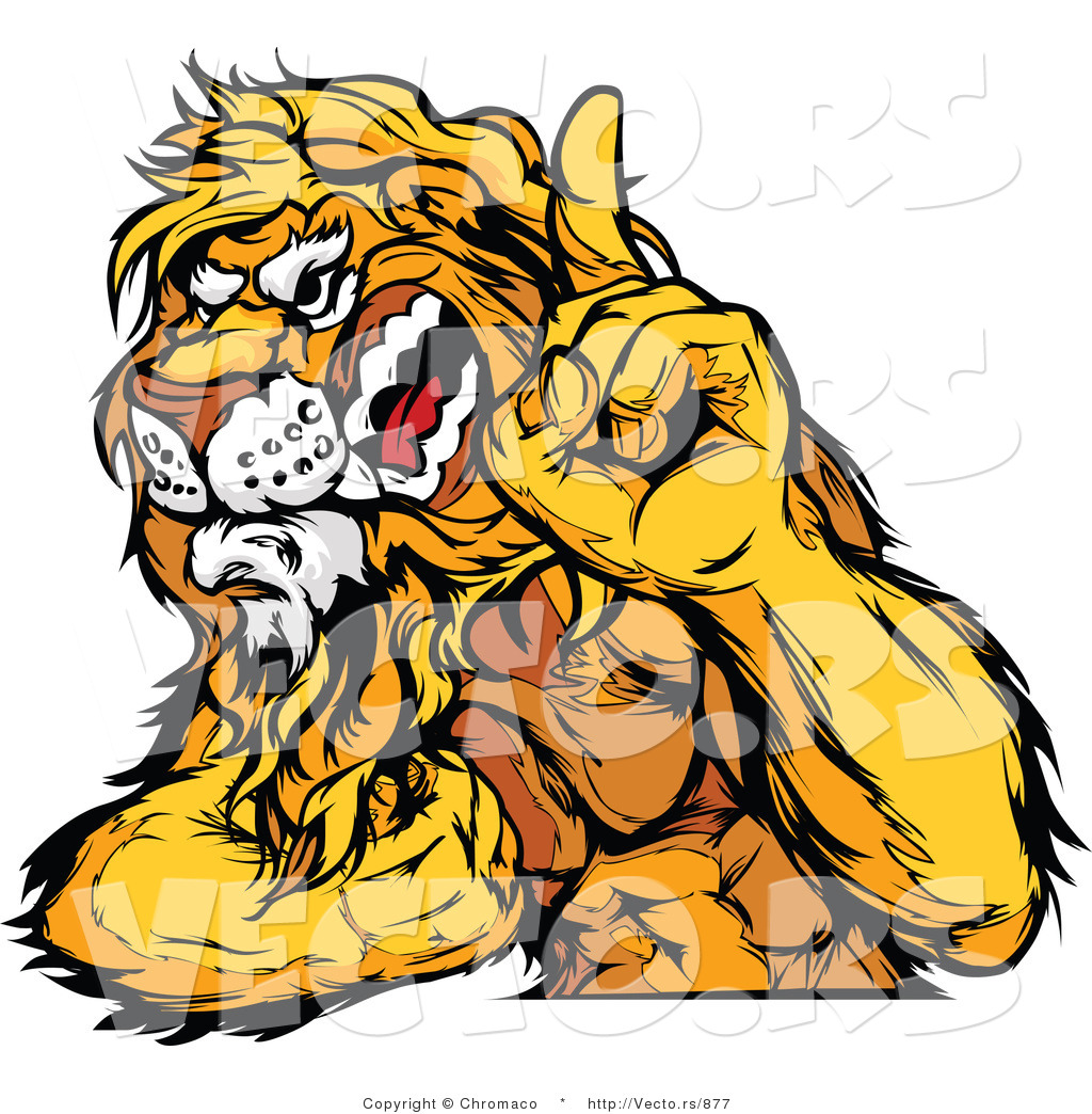 12 Muscular Lion Vector Art Images - Angry Lion Clip Art ...