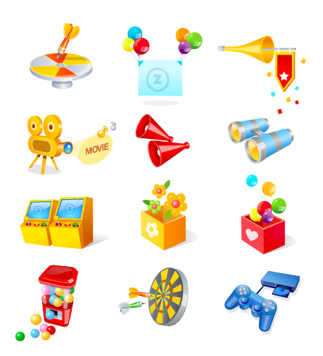 Play Vector Game Icons