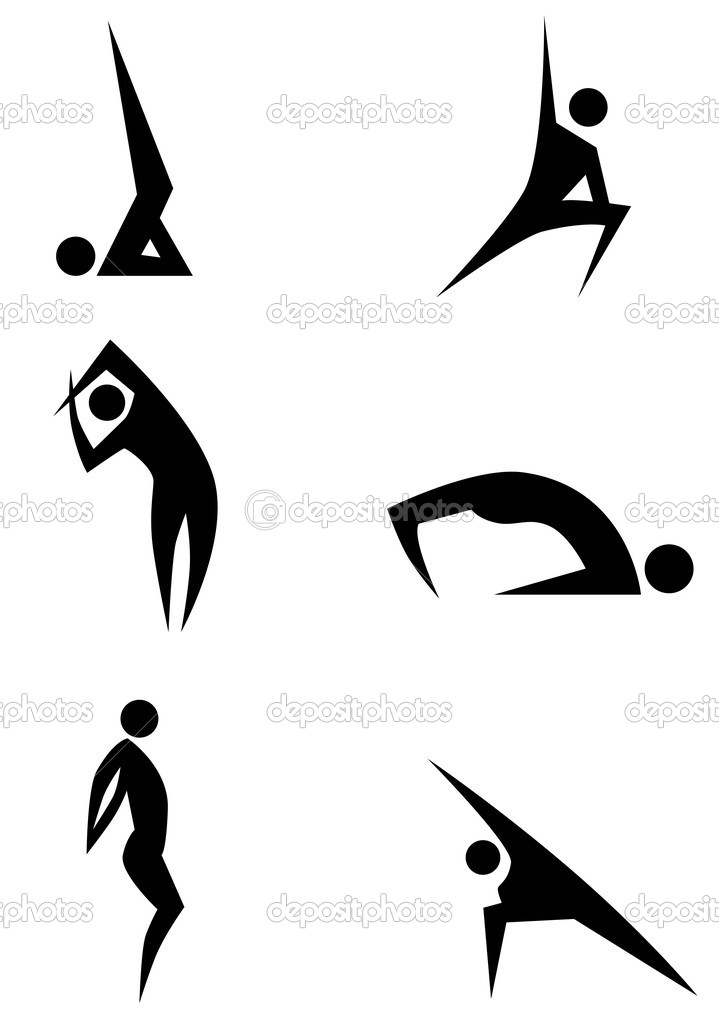 14 Yoga Stick Figure Vector Images
