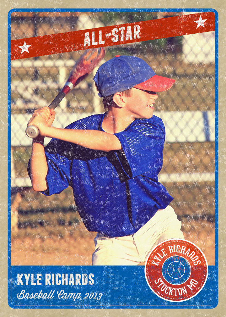 14 Baseball Card PSD Images