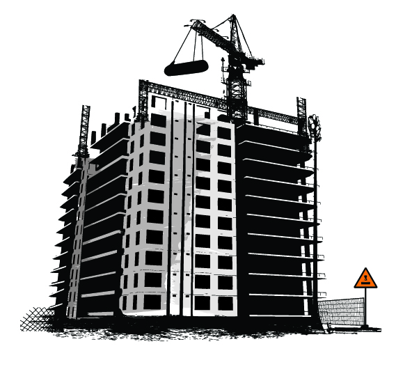 13 Building Construction Vector Images