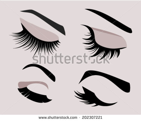 8 Closed Eye Lashes Vector Images - Eyebrow and Eyes ...