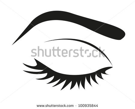 8 Closed Eye Lashes Vector Images