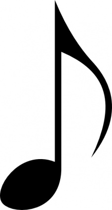 12 Black Musical Notes Vector Images