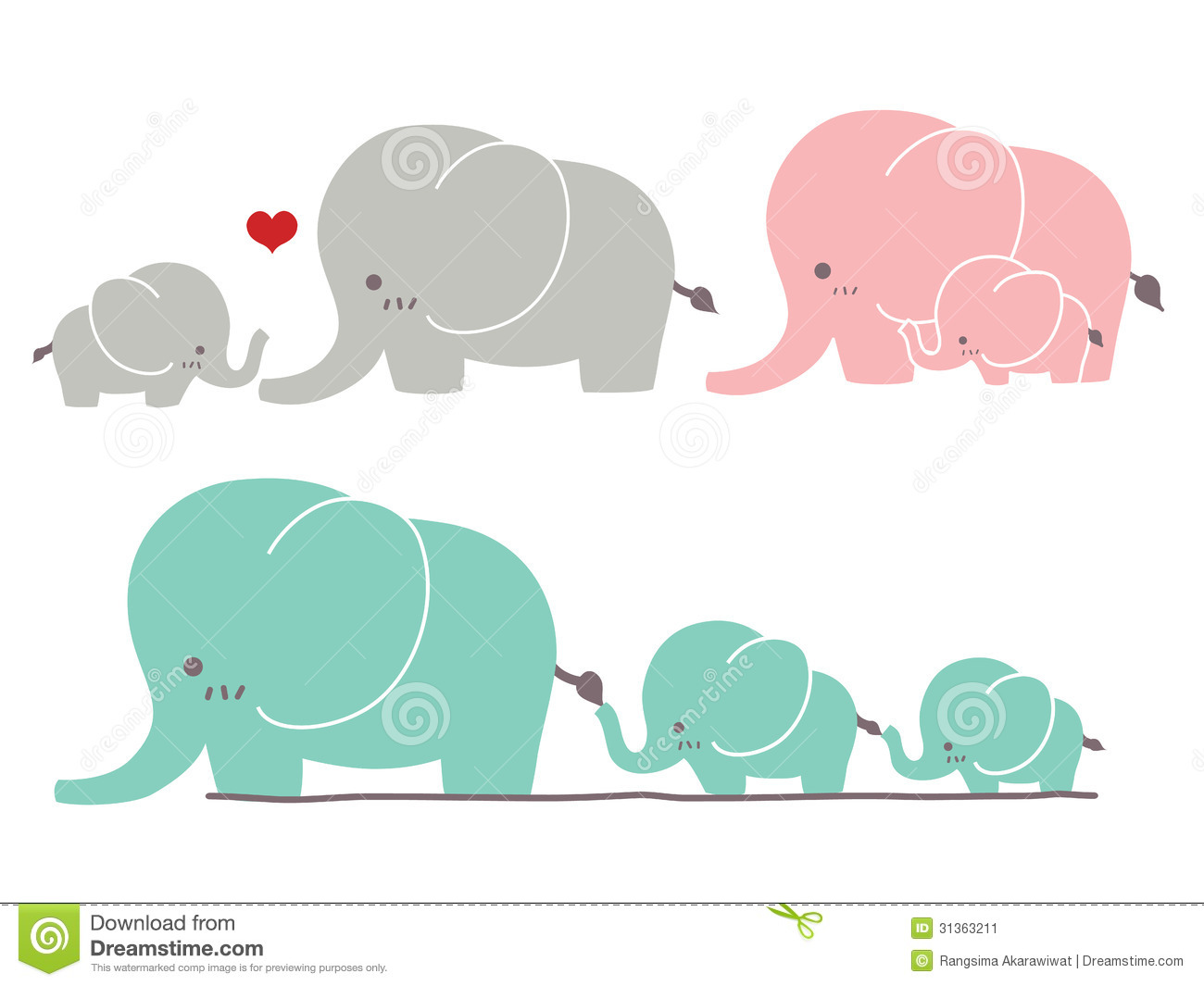 15 Cute Elephant Vector Graphics Images
