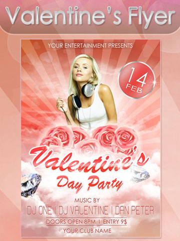 Free Christian Flyer Templates Valentine