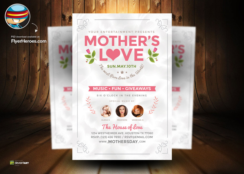 12 Mother's Day Flyer Template PSD Images