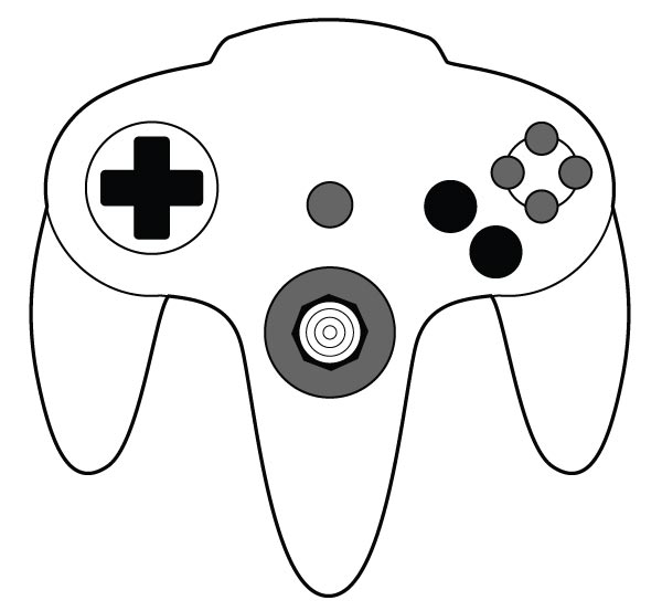 10 game controller vector images