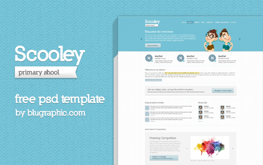 PSD Website Templates Education
