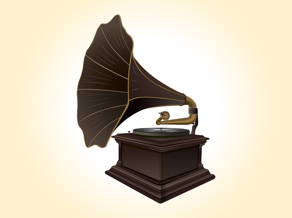 13 Vector Record Player Clip Art Images
