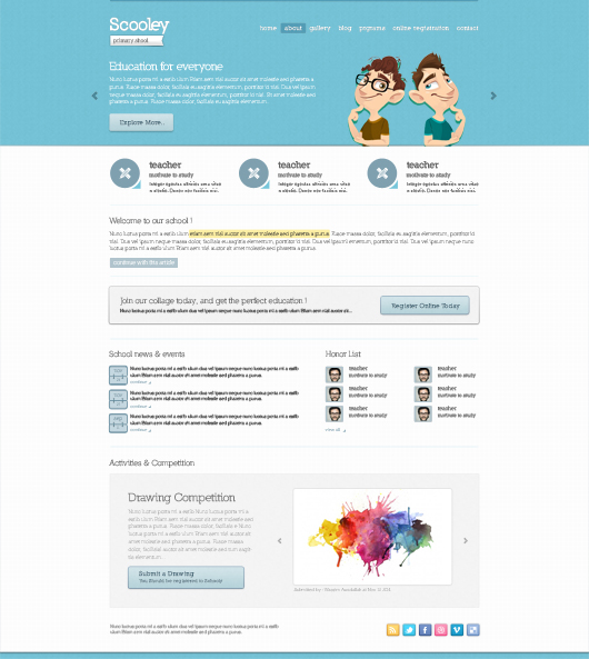 School Templates Website