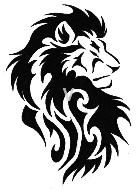15 Tribal Lion Vector Art Images