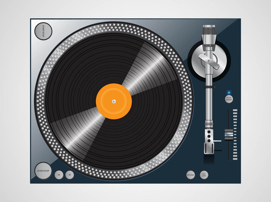 13 vector record player clip art images record player