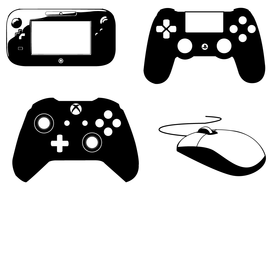 14 Xbox Controller Icon Vector Simple Images - Xbox 360 ... Xbox One Vector