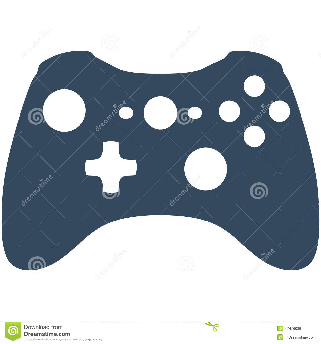 Xbox controller icon vector simple images