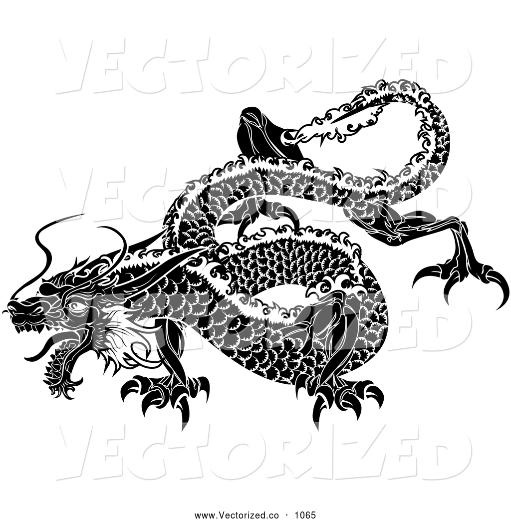 9 Chinese Dragon Vector Art Images