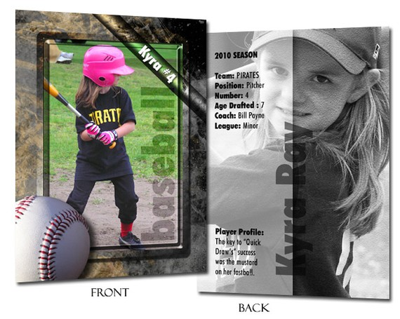 Free Baseball Trading Card Template Photoshop