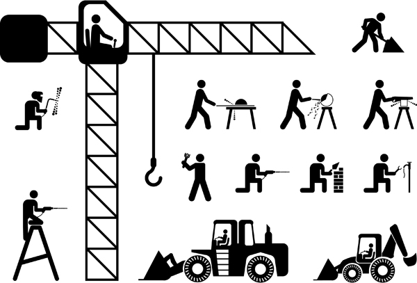 14 Vector Construction Man Images