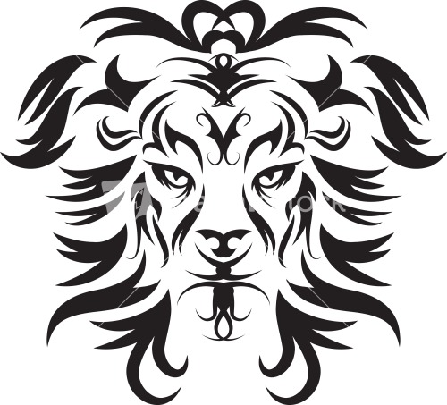 Lion Face Drawing Tribal Tribal Lion Face Vecto...