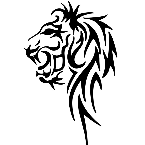 15 Tribal Lion Vector Images