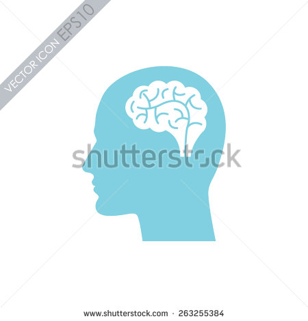 Vector Head with Brain