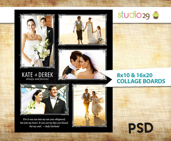 Wedding Collage Photoshop Template