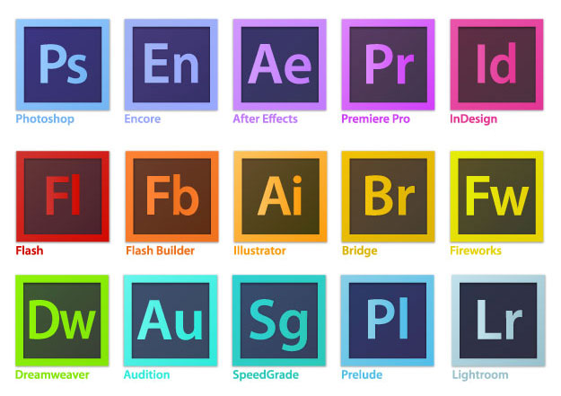 Adobe Creative Suite Icons Vector